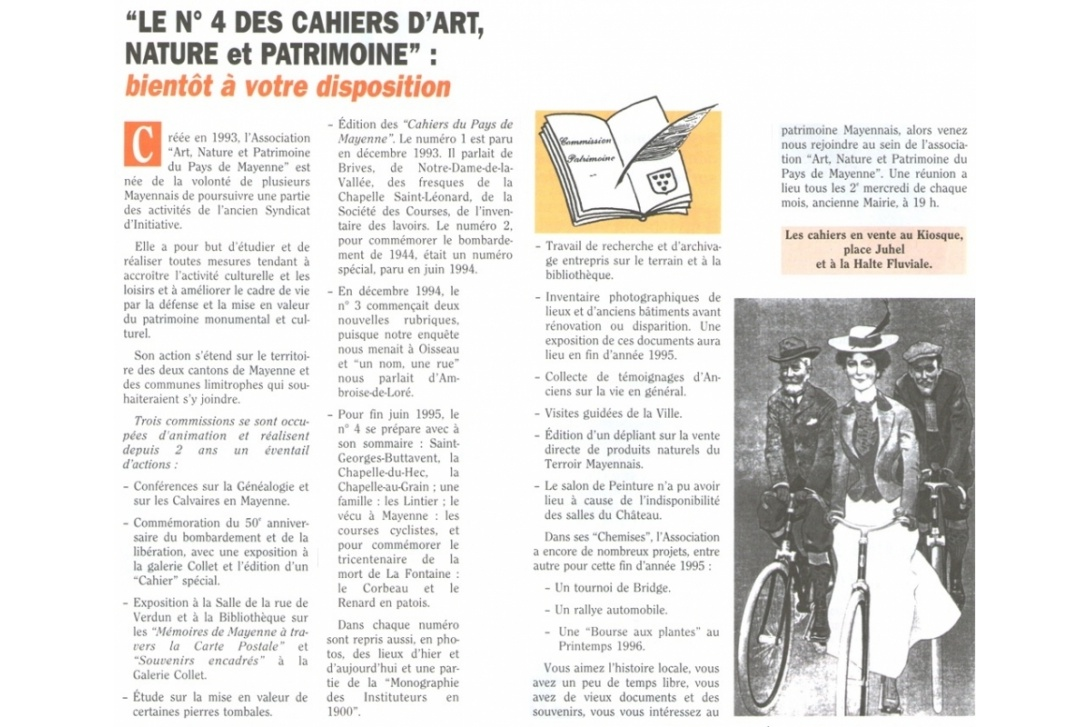 Cahier n° 4 - Saint-Georges-Buttavent ... : Journal Municipal d'Informations n°118, Juin 1995